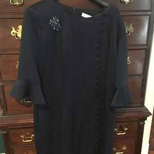 lily ann Dresses - NYC new 2018 navy Lilly Ann Taylor dress scuba